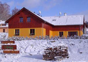 Apartmán Lípa Lipno v zimě -